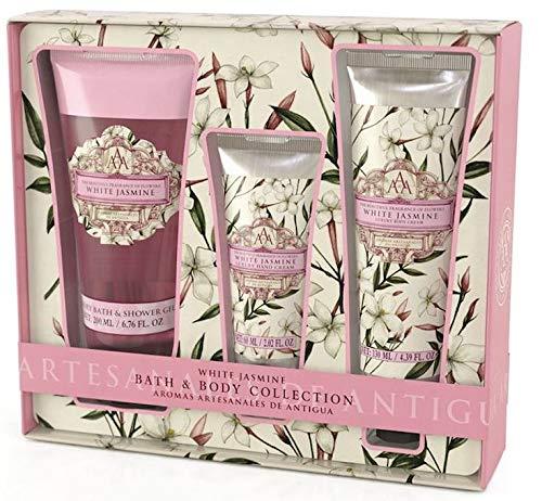 AAA Bath & Body Collection - Shower Gel 200 ml, Hand Cream 60 ml & Body Cream 130 ml (White Jasmine) (Lilac Hand Lotion)
