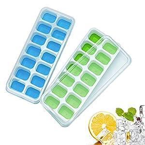 Vaschetta porta ghiaccio, Gxhong senza BPA con coperchi antiscivolo - Vaschetta porta ghiaccio in silicone, perfetta per… 9