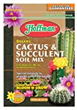 Hoffman 10410 Organic Cactus and Succulent Soil Mix, 10 Quarts