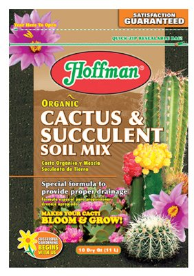 Hoffman 10410 Organic Cactus and Succulent Soil Mix, 10 Quarts by Hoffman