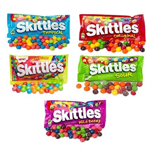 All American Skittles Assortment 5 Flavors 5 packs - EZ-SHIP PACK