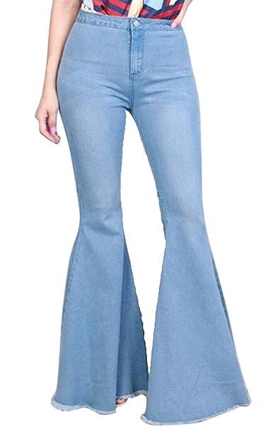 Amazon.com: Suncolor8 - Pantalones vaqueros para mujer ...