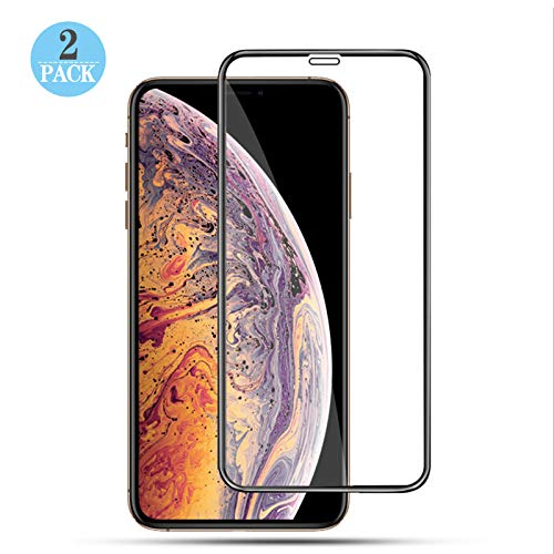 Price comparison product image [2-Pack] Screen Protector Compatible iPhone Xs MAX,9H Hardness,HD Clear,Ultra Slim,Bubble Free,Case FriendlyAnti-Fingerprint,6.5 ihch