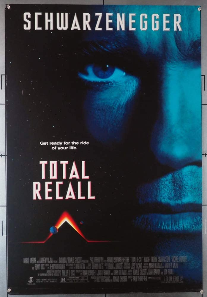 Total Recall 1990 Movie Poster Original U S One Sheet 27x39 75 Arnold Schwarzenegger Film Directed By Paul Verhoeven At Amazon S Entertainment Collectibles Store