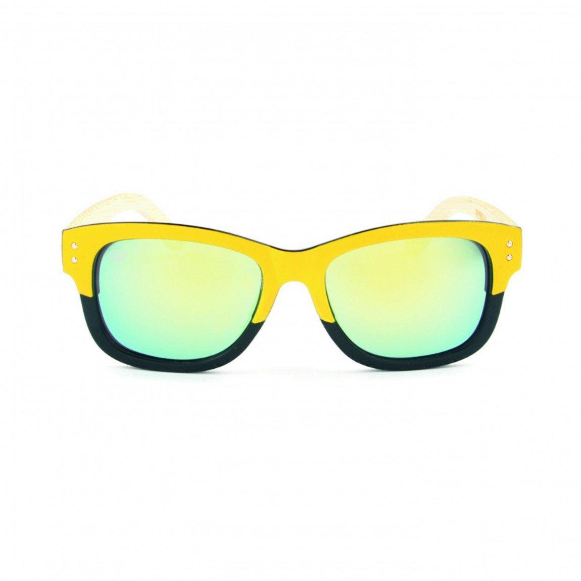 Gafas de Sol de Moda montura amarillo-negro cristal de ...