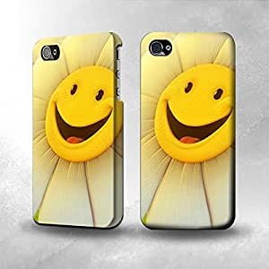 Apple iPhone 4 / 4S Case - The Best 3D Full Wrap iPhone Case - Smile Flower