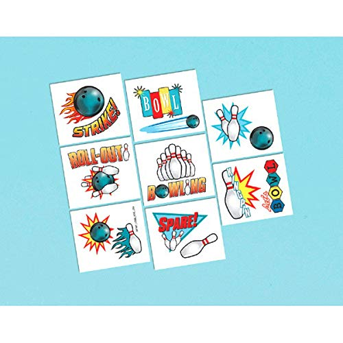 Tattoo Favors   Bowling Collection   Party Accessory   192 Ct.