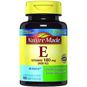 Nature Made Vitamin E 400 IU (dl-Alpha) Softgels 100 Ct
