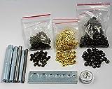 Leather Single Cap DOMED Rivets Rapid 6/7/8/10mm Setter Tools kits(7pcs tool+300 Set Rivets,3Color)