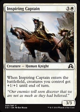 Magic: the Gathering - Inspiring Captain (025/297) - Shadows Over Innistrad 025 Shadow