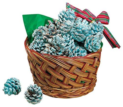 Fox Valley Traders Color Pinecones in Basket (Fireplace Pine Cones In)