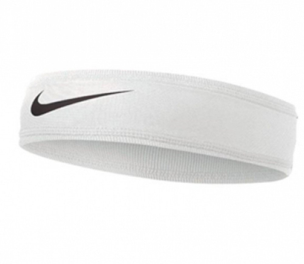 Nike Speed Performance Headband (One Size Fits Most, White/Black) by Nike (Image #2)