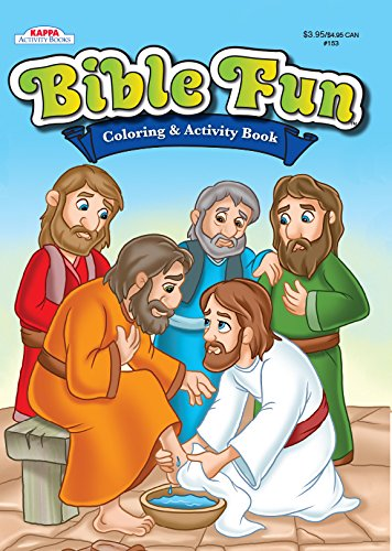 Bible Fun Coloring & Activity Book-Jesus washing the feet of the Apostles
