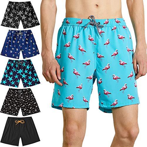 Felottis Mens Swim Trunks,Board Shorts Bathing Suit Swimwear,Men Beach Shorts Swim Shorts (Trunk Stretch Body)
