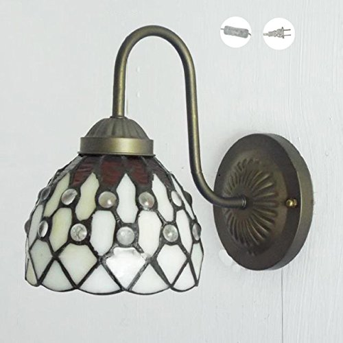 Install Granite Tile Wall (kiven vintage wall light glass shade e26 base plug in ul listed 6 Foot transparent Cord(BD0433))