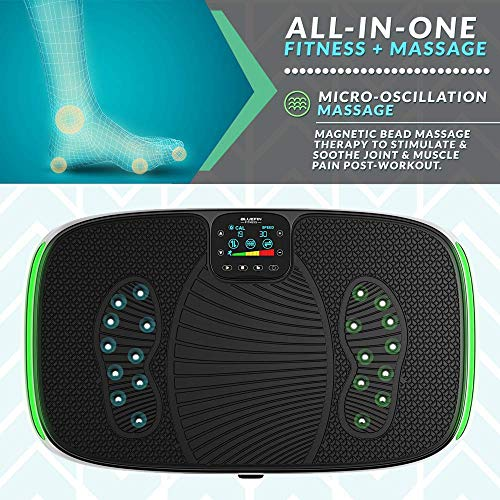 Bluefin Fitness 4D Triple Motor Vibration Plate | Powerful | Magnetic Therapy Massage | Curved Surface | 4.0 Bluetooth Speakers | Vibration Oscillation & Micro Vibration | 3 Silent Drive Motors by Bluefin Fitness (Image #3)