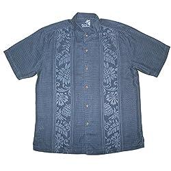 Tommy Bahama Mens Light Weight Silk, Summer Camp Shirt XL Dark Blue
