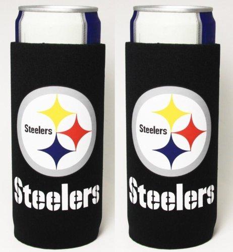 NFL Football Team Color Logo Tall Boy 24 oz Can Holder Insulator Sleeve Cooler 2-Pack