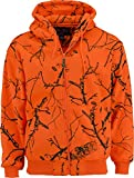 TrailCrest Trail Crest Men's Double Fleece Full Zip Blaze Hoodie, Large, Blaze Camo