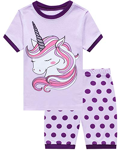 Little Pajamas Sleepwear 100% Cotton Summer Short Toddler Pjs Clothes Shirts Size 5 ()