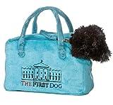 "Aurora Plush 8"" FancyPal The First Dog Blue Pet Carrier"