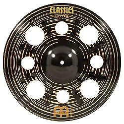 "Meinl Cymbals 16"" Trash Crash Cymbal with Holes - Classics Custom Dark - MADE IN GERMANY, 2-YEAR WARRANTY (CC16DATRC)"