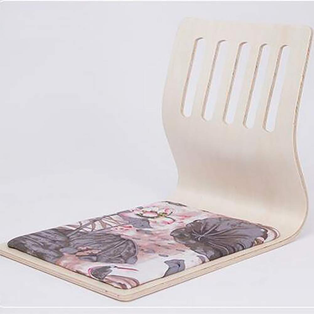 D&W Padded Floor Chair,Foldable Soft Cushioned Recliner Portable Japanese Style Cushioned Recliner for Video-Gaming Reading -A 50x38x42cm(20x15x17inch)