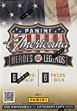 2012 Panini Americana Heroes & Legends 8-Pack Blaster Box