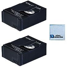 2 GoPro Hero3/Hero3+ Replacement Battery (AHDBT-301/AHDBT-302) 1600 mAh for Gopro Camera + Microfiber Cloth