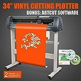 FINCOS W/Artcut Software Design/Cut 34'' Vinyl Cutter Sign Cutting Plotter for Sales