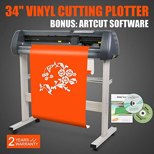 FINCOS W/Artcut Software Design/Cut 34'' Vinyl Cutter Sign Cutting Plotter for Sales by FINCOS (Image #1)