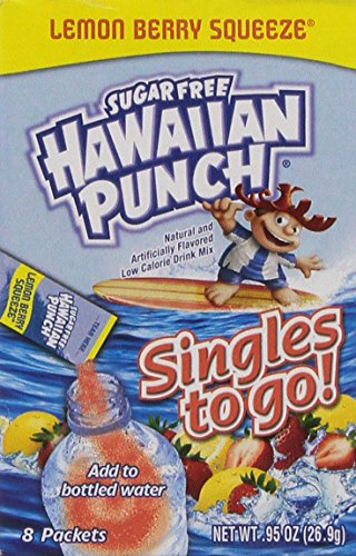 - Hawaiian Punch - Sugar Free Variety (Lemon Berry Squeeze) 8 count(Pack of 4)
