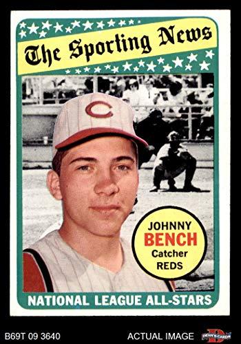 1969 Topps # 430 All-Star Johnny Bench Cincinnati Reds (Baseball Card) Dean's Cards 5 - EX Reds