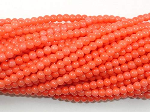 (Pink Coral Beads, Angel Skin Coral, 3mm (3.4 mm) Round Beads #BXP_5623)