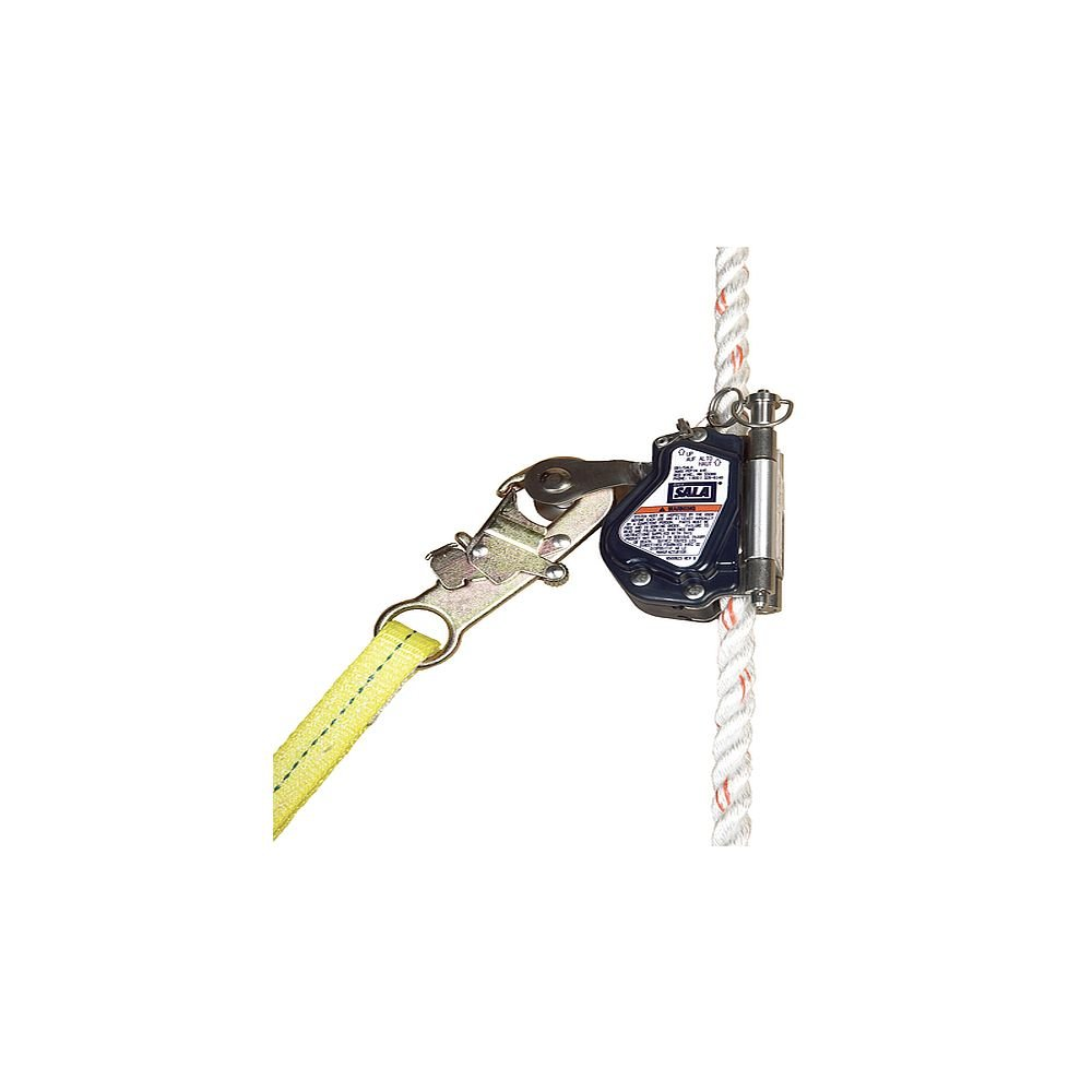 3M DBI-SALA 5000335 Vertical System Component, Mobile Rope Grab For Use On 5/8'' (16 mm) Rope Lifeline, Navy