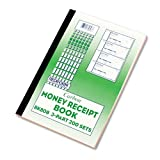 Money Receipt Book, 2 3/4 x 7, Carbonless Duplicate, 400 Sets/Book by Rediform