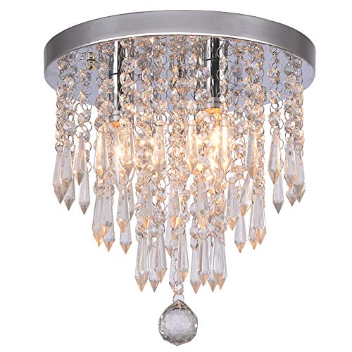Individual Ball Handling Drills - Hile Lighting KU300107 Crystal Chandeliers Flush Mount Ceiling Light Lamp,Diameter 11.0 Inch Height 11.8 Inch, 3 Lights