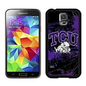 Samsung Galaxy S5 NCAA Big 12 Conference Big12 Football TCU Horned Frogs 1 Black Screen Cellphone Case Genuine and Popular Design