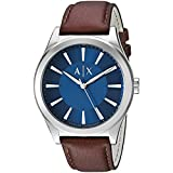 Armani Exchange Men's AX2324 Brown  Leather Watch