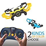 Hasakee Mini RC Helicopter Drone 2.4Ghz 6-Axis Gyro 4 Channels Quadcopter With Camera,Headless Mode,Blue Bee