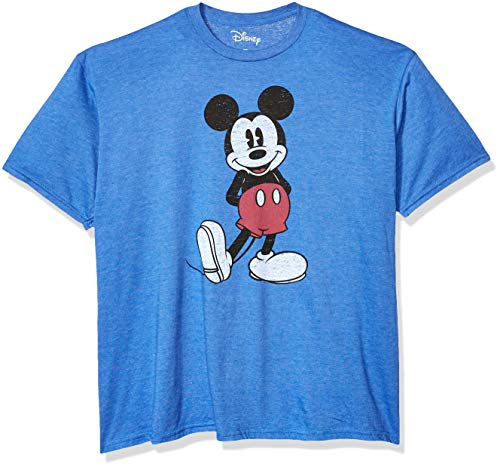 Matching Disney Shirts For Family (Disney Men's Full Size Mickey Mouse Distressed Look T-Shirt, Royal Heather,)