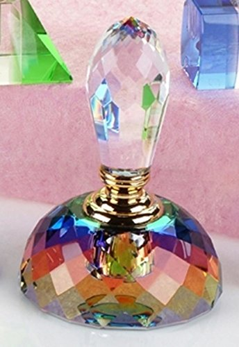 StealStreet CC-173 Colorful K9 Crystal Perfume Bottle with Teardrop Cap Scented Decanter