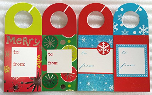 Funny Christmas Gift Tags (8 Large 'Bottle' Gift Tags ~ Christmas Holiday Gift Wrapping Tags for Wine, 2 Liter Soda, &)
