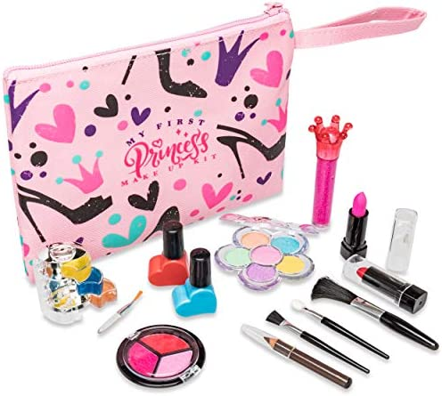 My First Princess Make Up Kit  12 Pc Kids Makeup Set  Washable Pretend Makeup For Girls  These