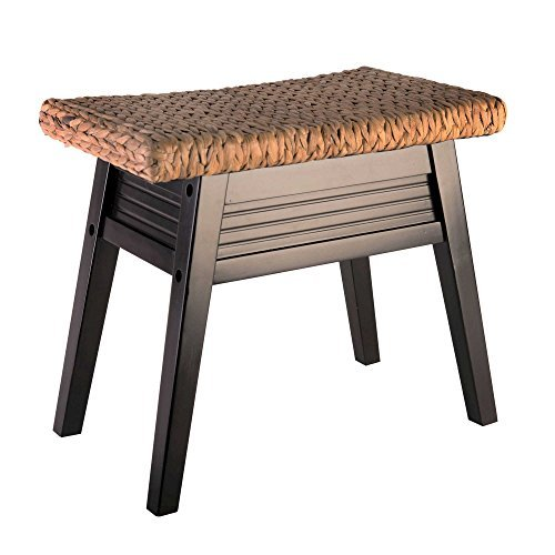Stylish Fashion Durable Wood Davenport Lightweight Bench in Dark Espresso by Elegant Home Fashions (Image #3)
