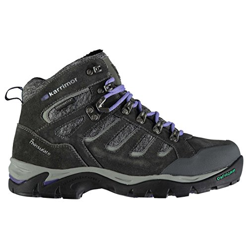 Karrimor Womens Mount Walking Boots Lace Up Padded Ankle Collar Lightweight Grey X9xGw9