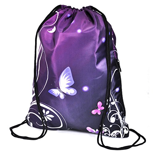 Zoresyn Drawstring Bag Outdoor Exercise Backpack Travell Pinic Sackpack Water Resistent Swimming Knapsack by Zoresyn