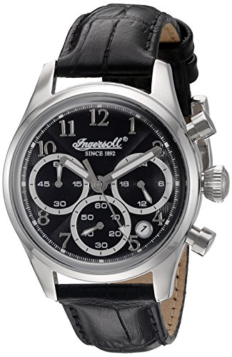 Ingersoll Women's INQ 042 BKSL Pembroke Ladies Analog Display Japanese Quartz Black Watch