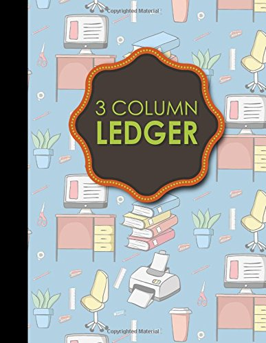 3 Column Ledger: Ledger Books, Accounting Ledger Sheets, General Ledger Accounting Book, 8.5