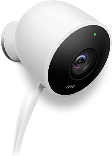 Google Nest Cam Outdoor – Weatherproof Outdoor Camera for Home Security – Surveillance Camera with Night Vision – Control with Your Phone